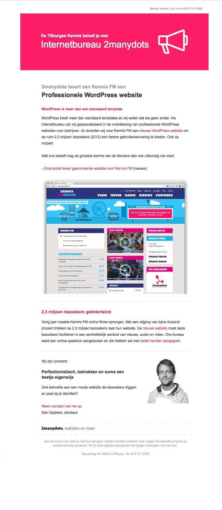 digitale nieuwsbrieven voor 2manydots