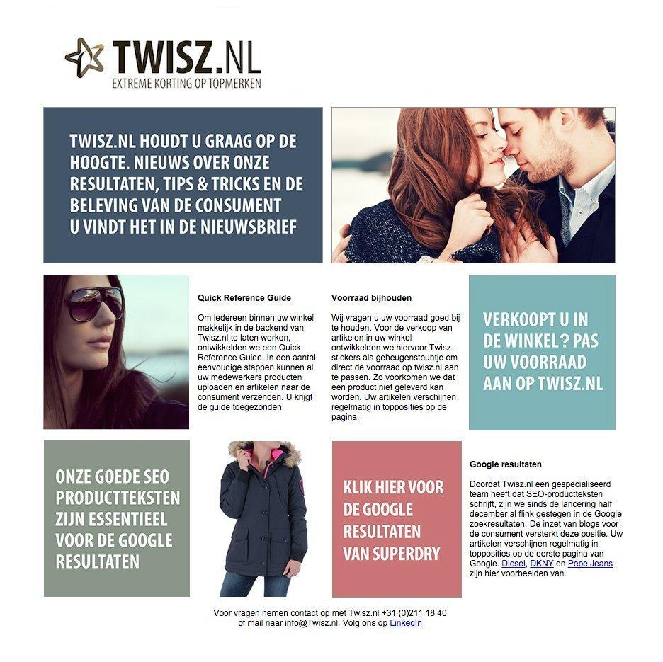 online nieuwsbrief voor Twisz