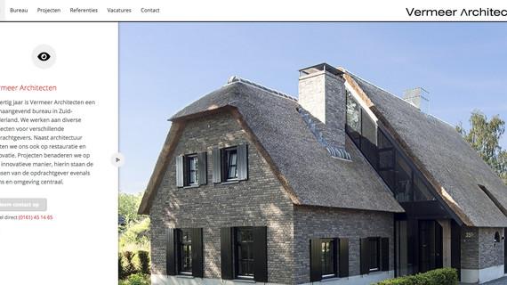 Webteksten voor Vermeer Architecten staan online